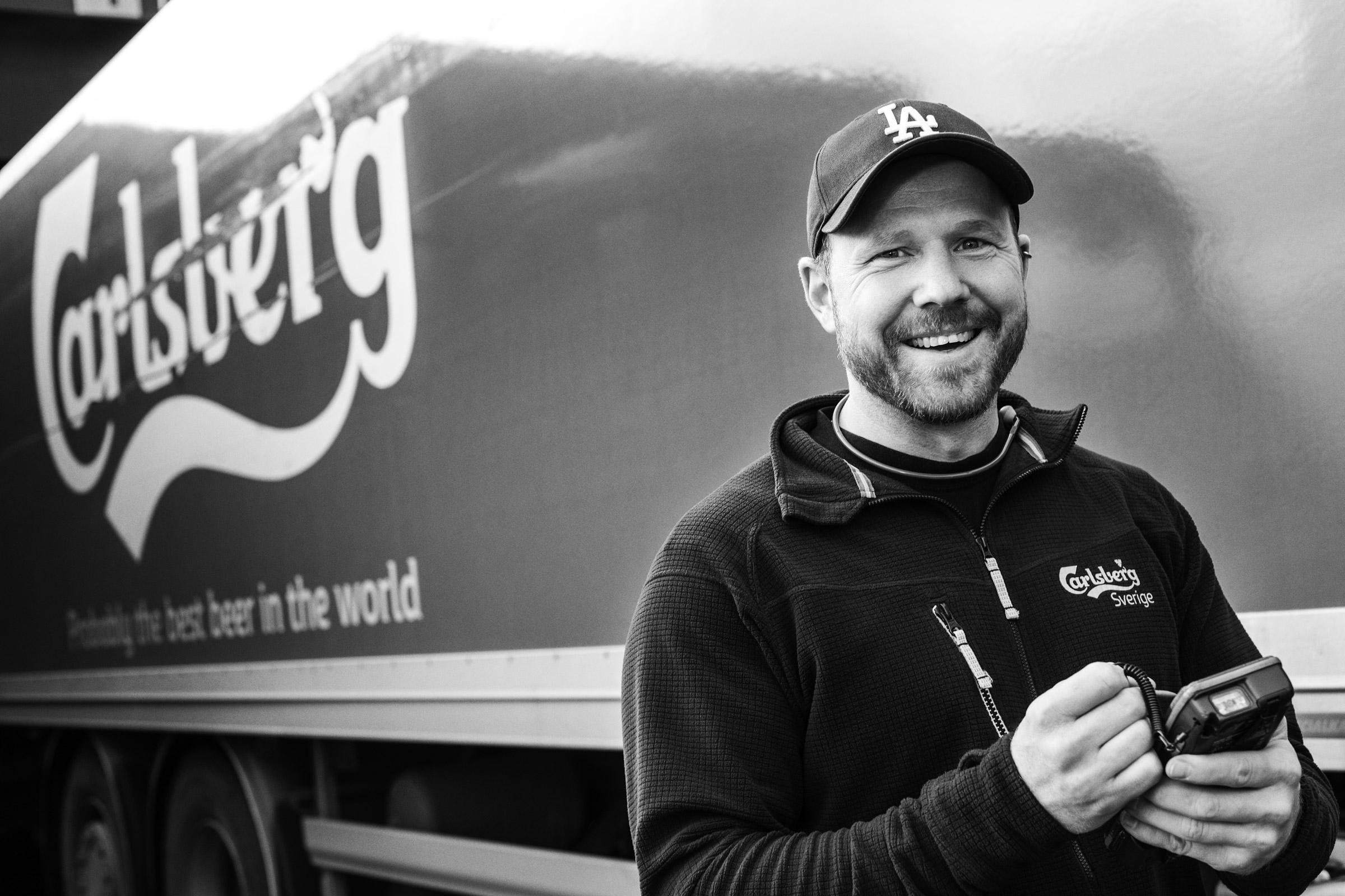 Medarbetare porträtt Carlsberg fotograferad i miljö