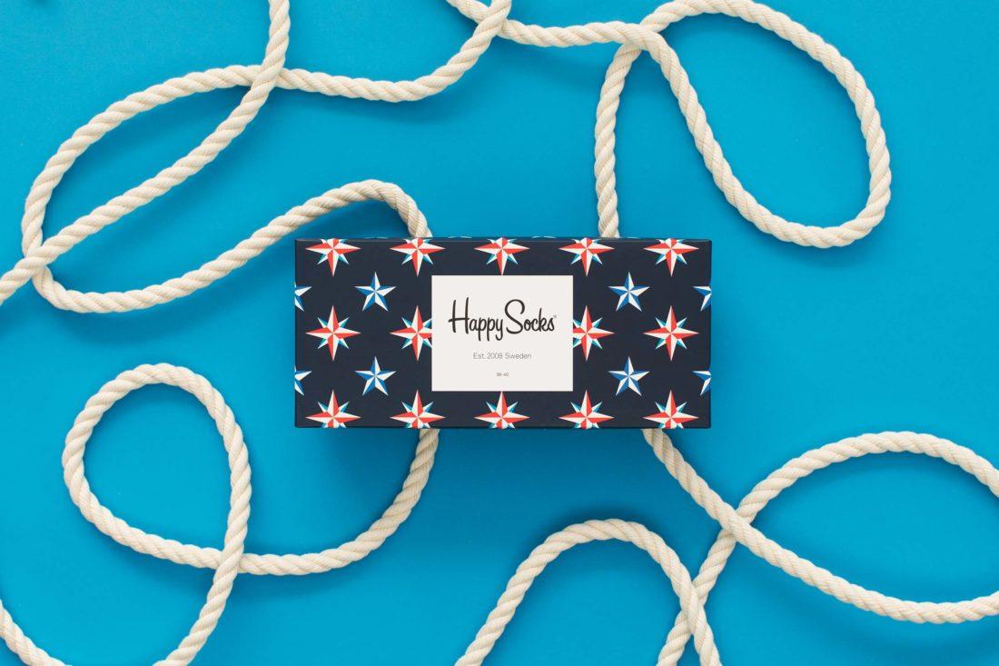 Presentbox från Happy socks med tampar och rep