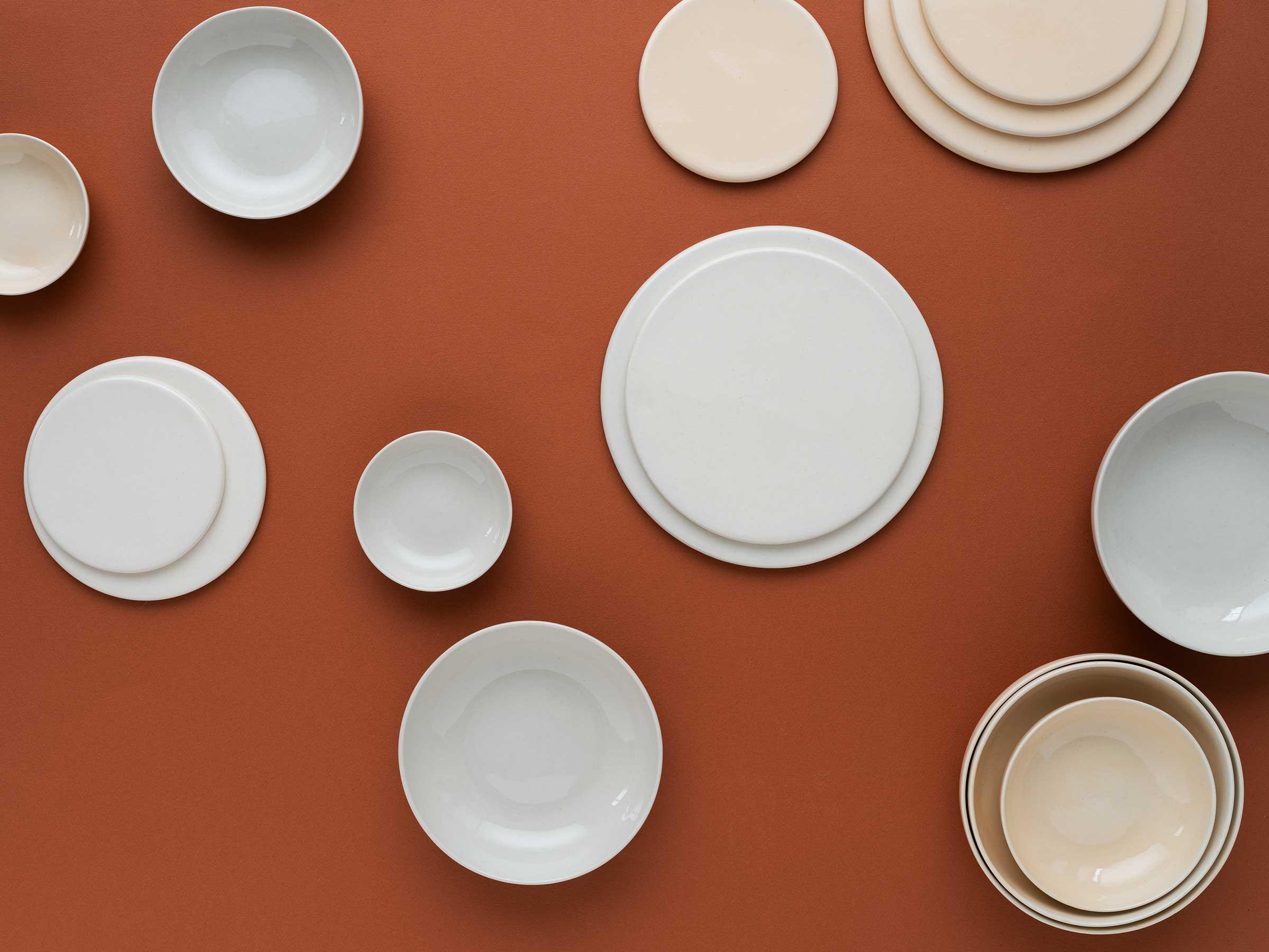 keramik i mönsterformation fotograferat ovanifrån